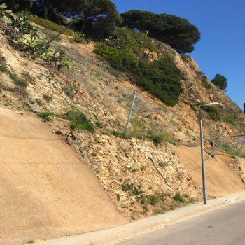 consolidación de taludes en Jardins Mar i Murtra