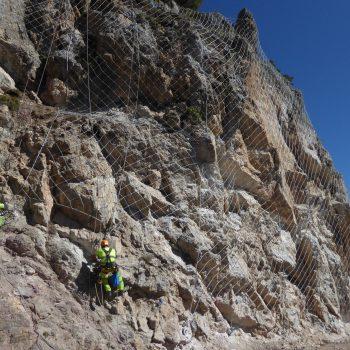 malla de cable en Prats d'Aguiló