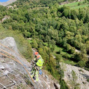protección contra desprendimientos rocosos