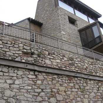 muro anclado con bulones